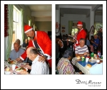 Father Christmas serving lunch
