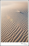 Ripples in the sand, shifting all the time.