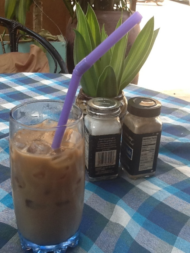 Iced coffee in Cambodia